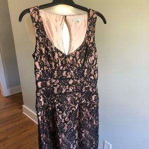 NANETTE LEPORE Black Lace/Rose Quartz Dress Sz 6